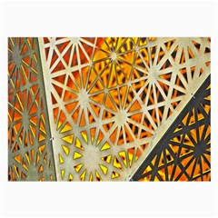 Abstract Starburst Background Wallpaper Of Metal Starburst Decoration With Orange And Yellow Back Large Glasses Cloth (2-Side)