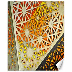 Abstract Starburst Background Wallpaper Of Metal Starburst Decoration With Orange And Yellow Back Canvas 11  x 14