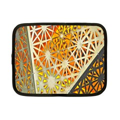 Abstract Starburst Background Wallpaper Of Metal Starburst Decoration With Orange And Yellow Back Netbook Case (Small)