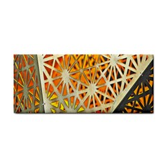 Abstract Starburst Background Wallpaper Of Metal Starburst Decoration With Orange And Yellow Back Cosmetic Storage Cases