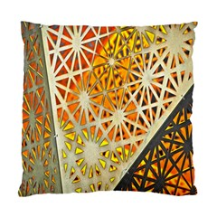 Abstract Starburst Background Wallpaper Of Metal Starburst Decoration With Orange And Yellow Back Standard Cushion Case (two Sides)