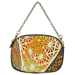 Abstract Starburst Background Wallpaper Of Metal Starburst Decoration With Orange And Yellow Back Chain Purses (two Sides)