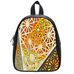 Abstract Starburst Background Wallpaper Of Metal Starburst Decoration With Orange And Yellow Back School Bags (small)