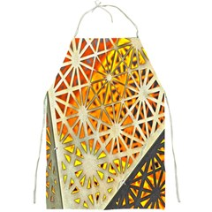 Abstract Starburst Background Wallpaper Of Metal Starburst Decoration With Orange And Yellow Back Full Print Aprons