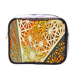 Abstract Starburst Background Wallpaper Of Metal Starburst Decoration With Orange And Yellow Back Mini Toiletries Bags