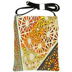 Abstract Starburst Background Wallpaper Of Metal Starburst Decoration With Orange And Yellow Back Shoulder Sling Bags