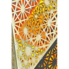 Abstract Starburst Background Wallpaper Of Metal Starburst Decoration With Orange And Yellow Back 5.5  x 8.5  Notebooks