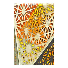 Abstract Starburst Background Wallpaper Of Metal Starburst Decoration With Orange And Yellow Back Shower Curtain 48  x 72  (Small)