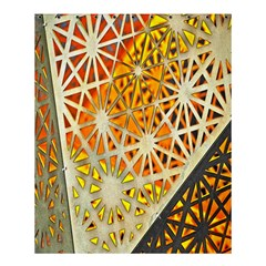 Abstract Starburst Background Wallpaper Of Metal Starburst Decoration With Orange And Yellow Back Shower Curtain 60  X 72  (medium)