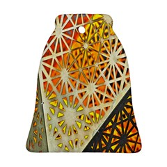Abstract Starburst Background Wallpaper Of Metal Starburst Decoration With Orange And Yellow Back Bell Ornament (Two Sides)