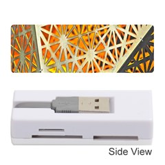 Abstract Starburst Background Wallpaper Of Metal Starburst Decoration With Orange And Yellow Back Memory Card Reader (Stick)