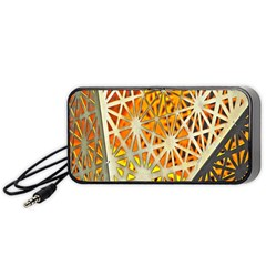 Abstract Starburst Background Wallpaper Of Metal Starburst Decoration With Orange And Yellow Back Portable Speaker (Black)