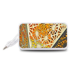 Abstract Starburst Background Wallpaper Of Metal Starburst Decoration With Orange And Yellow Back Portable Speaker (White)