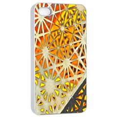 Abstract Starburst Background Wallpaper Of Metal Starburst Decoration With Orange And Yellow Back Apple Iphone 4/4s Seamless Case (white)