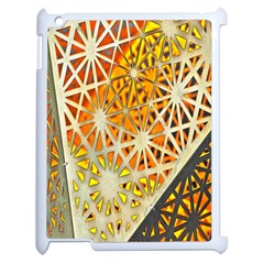 Abstract Starburst Background Wallpaper Of Metal Starburst Decoration With Orange And Yellow Back Apple iPad 2 Case (White)