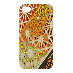 Abstract Starburst Background Wallpaper Of Metal Starburst Decoration With Orange And Yellow Back Apple iPhone 4/4S Hardshell Case