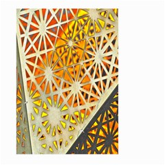 Abstract Starburst Background Wallpaper Of Metal Starburst Decoration With Orange And Yellow Back Large Garden Flag (two Sides)