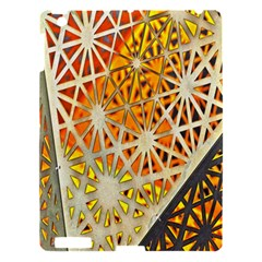 Abstract Starburst Background Wallpaper Of Metal Starburst Decoration With Orange And Yellow Back Apple iPad 3/4 Hardshell Case