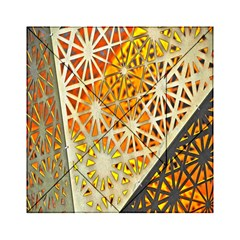Abstract Starburst Background Wallpaper Of Metal Starburst Decoration With Orange And Yellow Back Acrylic Tangram Puzzle (6  X 6 )