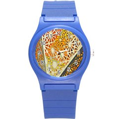 Abstract Starburst Background Wallpaper Of Metal Starburst Decoration With Orange And Yellow Back Round Plastic Sport Watch (s)