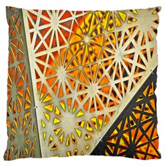 Abstract Starburst Background Wallpaper Of Metal Starburst Decoration With Orange And Yellow Back Large Cushion Case (two Sides)
