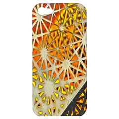 Abstract Starburst Background Wallpaper Of Metal Starburst Decoration With Orange And Yellow Back Apple Iphone 5 Hardshell Case
