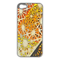 Abstract Starburst Background Wallpaper Of Metal Starburst Decoration With Orange And Yellow Back Apple Iphone 5 Case (silver)