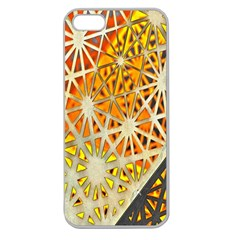 Abstract Starburst Background Wallpaper Of Metal Starburst Decoration With Orange And Yellow Back Apple Seamless iPhone 5 Case (Clear)