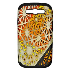 Abstract Starburst Background Wallpaper Of Metal Starburst Decoration With Orange And Yellow Back Samsung Galaxy S III Hardshell Case (PC+Silicone)