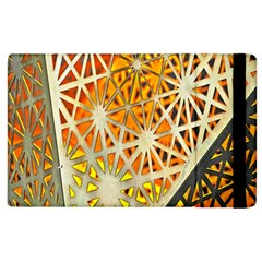Abstract Starburst Background Wallpaper Of Metal Starburst Decoration With Orange And Yellow Back Apple Ipad 3/4 Flip Case
