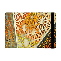 Abstract Starburst Background Wallpaper Of Metal Starburst Decoration With Orange And Yellow Back Apple iPad Mini Flip Case