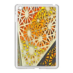 Abstract Starburst Background Wallpaper Of Metal Starburst Decoration With Orange And Yellow Back Apple iPad Mini Case (White)