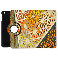 Abstract Starburst Background Wallpaper Of Metal Starburst Decoration With Orange And Yellow Back Apple iPad Mini Flip 360 Case