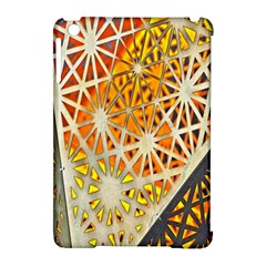 Abstract Starburst Background Wallpaper Of Metal Starburst Decoration With Orange And Yellow Back Apple Ipad Mini Hardshell Case (compatible With Smart Cover)