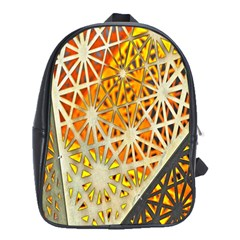 Abstract Starburst Background Wallpaper Of Metal Starburst Decoration With Orange And Yellow Back School Bags (XL)