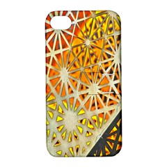 Abstract Starburst Background Wallpaper Of Metal Starburst Decoration With Orange And Yellow Back Apple iPhone 4/4S Hardshell Case with Stand