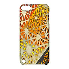 Abstract Starburst Background Wallpaper Of Metal Starburst Decoration With Orange And Yellow Back Apple iPod Touch 5 Hardshell Case with Stand