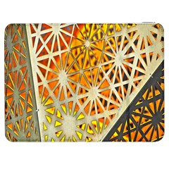 Abstract Starburst Background Wallpaper Of Metal Starburst Decoration With Orange And Yellow Back Samsung Galaxy Tab 7  P1000 Flip Case