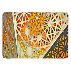 Abstract Starburst Background Wallpaper Of Metal Starburst Decoration With Orange And Yellow Back Samsung Galaxy Tab 8 9  P7300 Flip Case