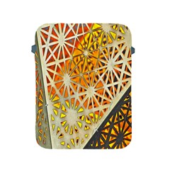 Abstract Starburst Background Wallpaper Of Metal Starburst Decoration With Orange And Yellow Back Apple Ipad 2/3/4 Protective Soft Cases