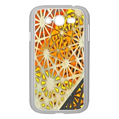 Abstract Starburst Background Wallpaper Of Metal Starburst Decoration With Orange And Yellow Back Samsung Galaxy Grand Duos I9082 Case (white)