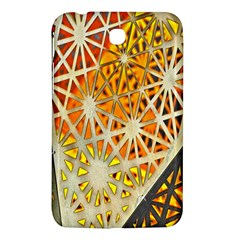 Abstract Starburst Background Wallpaper Of Metal Starburst Decoration With Orange And Yellow Back Samsung Galaxy Tab 3 (7 ) P3200 Hardshell Case