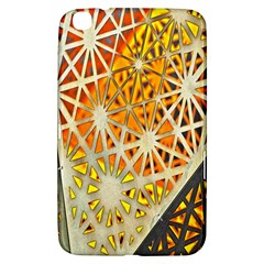 Abstract Starburst Background Wallpaper Of Metal Starburst Decoration With Orange And Yellow Back Samsung Galaxy Tab 3 (8 ) T3100 Hardshell Case