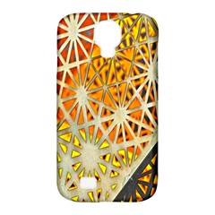 Abstract Starburst Background Wallpaper Of Metal Starburst Decoration With Orange And Yellow Back Samsung Galaxy S4 Classic Hardshell Case (pc+silicone)