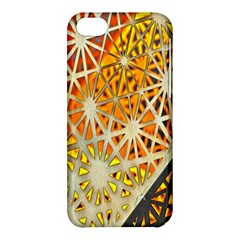 Abstract Starburst Background Wallpaper Of Metal Starburst Decoration With Orange And Yellow Back Apple Iphone 5c Hardshell Case