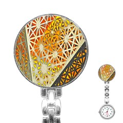 Abstract Starburst Background Wallpaper Of Metal Starburst Decoration With Orange And Yellow Back Stainless Steel Nurses Watch