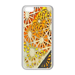 Abstract Starburst Background Wallpaper Of Metal Starburst Decoration With Orange And Yellow Back Apple iPhone 5C Seamless Case (White)