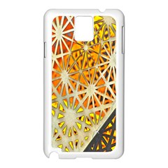 Abstract Starburst Background Wallpaper Of Metal Starburst Decoration With Orange And Yellow Back Samsung Galaxy Note 3 N9005 Case (white)