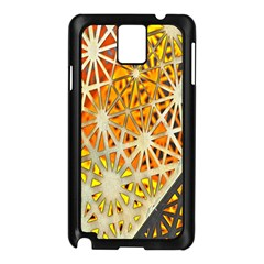Abstract Starburst Background Wallpaper Of Metal Starburst Decoration With Orange And Yellow Back Samsung Galaxy Note 3 N9005 Case (black)