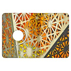 Abstract Starburst Background Wallpaper Of Metal Starburst Decoration With Orange And Yellow Back Kindle Fire Hdx Flip 360 Case